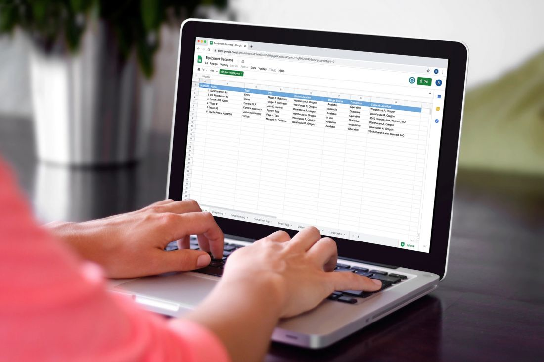 Free Equipment Asset Inventory Tracking Excel Spreadsheet